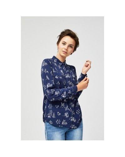 Рубашка с принтом - синяя Moodo