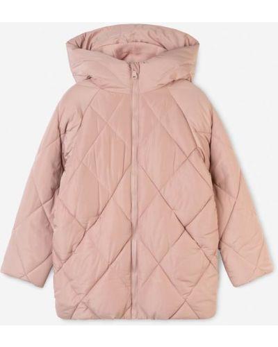 Джинсовая куртка с капюшоном - розовая Gloria Jeans