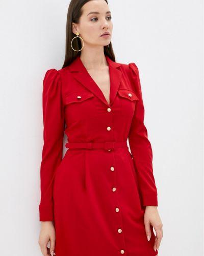 Красное платье-рубашка Imperial