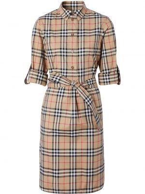 Платье макси длинное - коричневое Burberry
