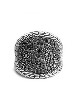 Klasyczny czarny pierścionek szafir John Hardy