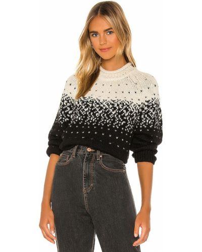 Восточный черный шерстяной свитер Saylor