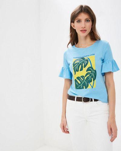 Голубая футболка 2019 Springfield