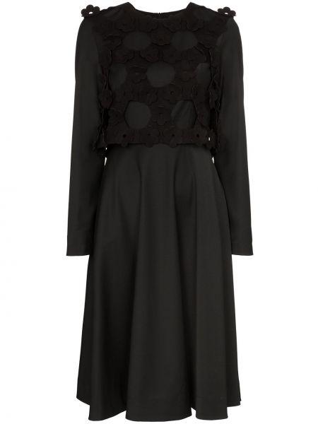 Черное платье миди Paskal