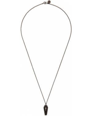 Ожерелье черный серебряный Undercover