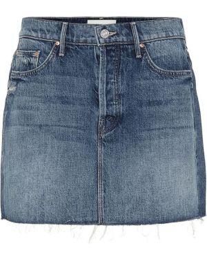 Юбка мини джинсовая пачка Mother