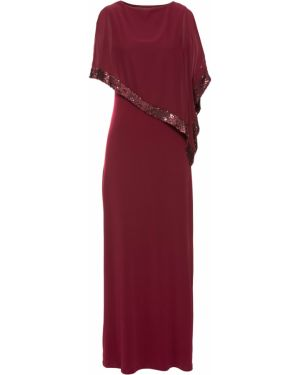 Платье с пайетками красный Bonprix