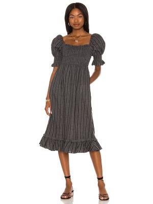 Sukienka midi elegancka - czarna Majorelle