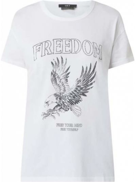 T-shirt z printem - biała Set