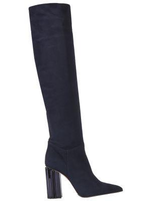 Ботфорты на каблуке кожаные замшевые Le Silla