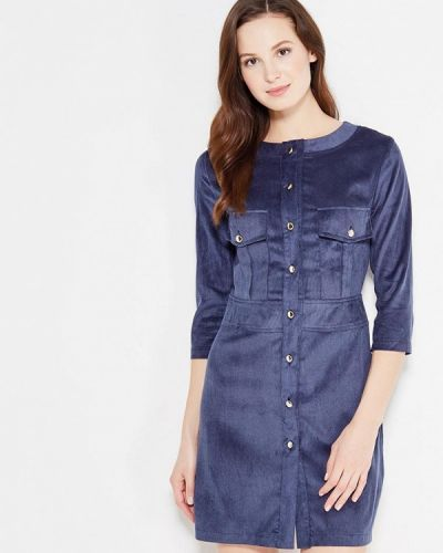 Вечернее платье осеннее синее Sk-house