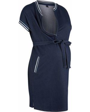 Платье для беременных с поясом на молнии Bonprix