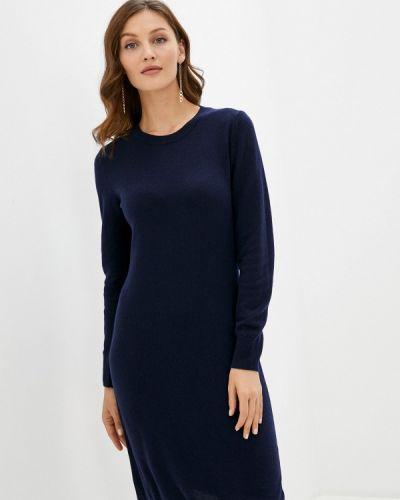 Синее вязаное платье United Colors Of Benetton