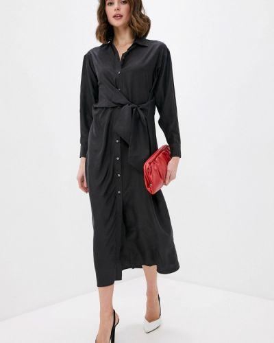 Черное платье-рубашка P.a.r.o.s.h.