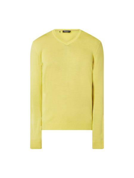 Sweter wełniany - żółty Maerz Muenchen