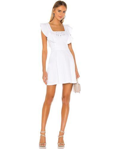 Открытое белое вечернее платье с открытой спиной Bcbgeneration