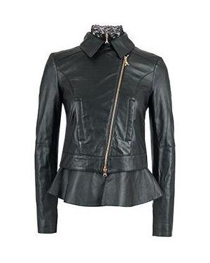 Кожаная куртка - черная Patrizia Pepe