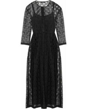 Черное платье миди с капюшоном с вырезом с декоративной отделкой 's Max Mara