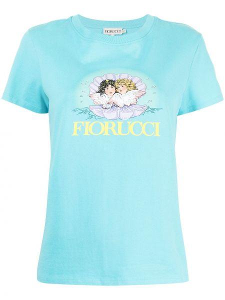 Niebieska t-shirt bawełniana Fiorucci