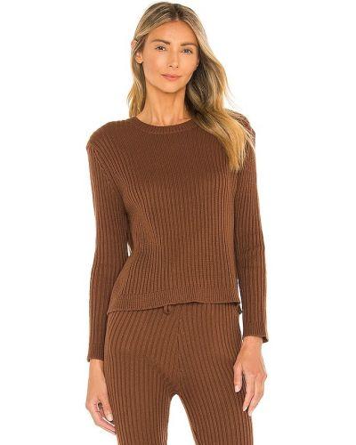 Brązowy sweter z akrylu Majorelle