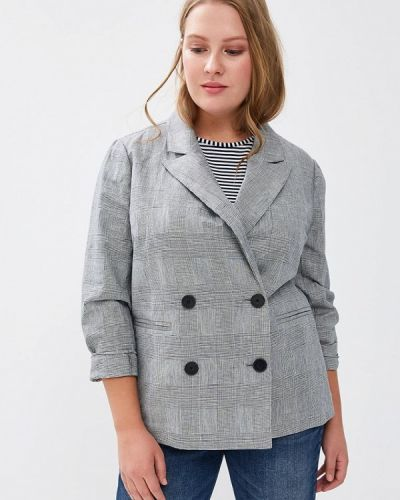 Серый пиджак Violeta By Mango