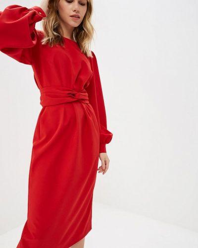 Платье красный осеннее Irina Vladi
