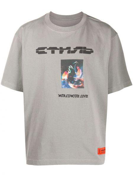 Bawełna bawełna z rękawami koszula krótkie z krótkim rękawem Heron Preston