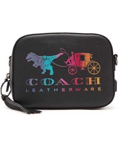 Кожаная сумка через плечо маленькая Coach
