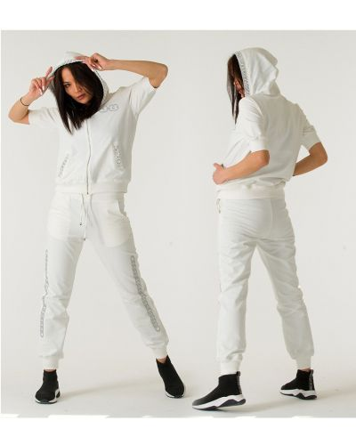 Спортивный костюм с капюшоном - белый Sogo