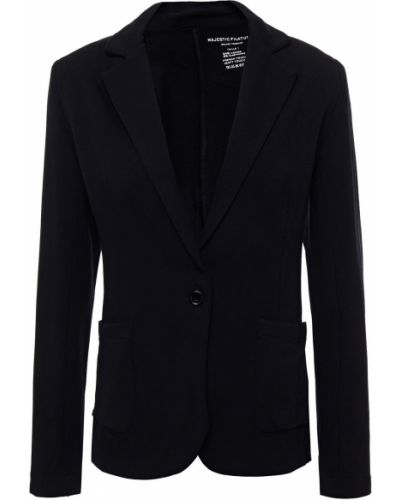 Трикотажный черный пиджак с карманами Majestic Filatures