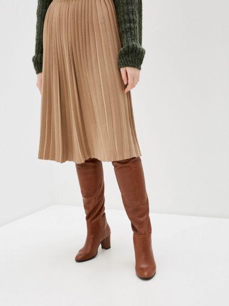 Коричневая плиссированная юбка Sewel