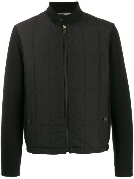 Długa kurtka czarna krótki Canali