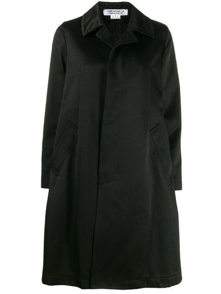 Черное пальто с капюшоном с воротником Comme Des Garçons Comme Des Garçons