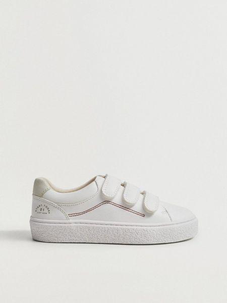 Текстильные ботинки - белые Mango Kids