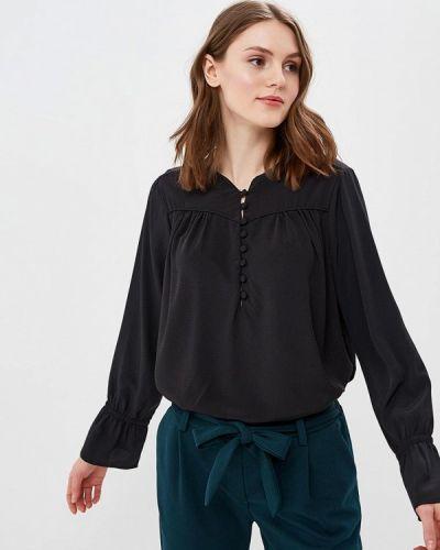 Блузка с длинным рукавом черная Piazza Italia