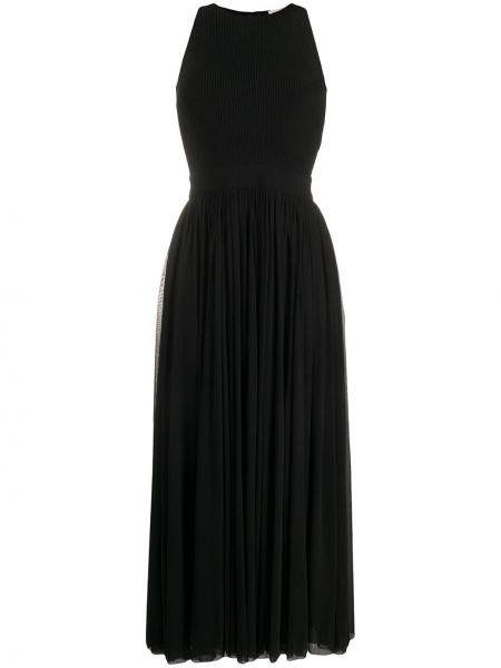 Платье макси плиссированное на молнии Alexander Mcqueen
