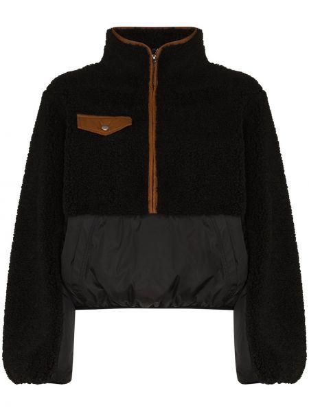 Флисовая черная куртка на молнии Frame