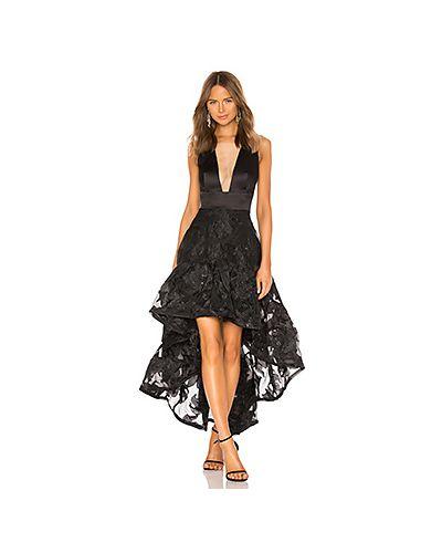Вечернее платье из парчи черное Bronx And Banco