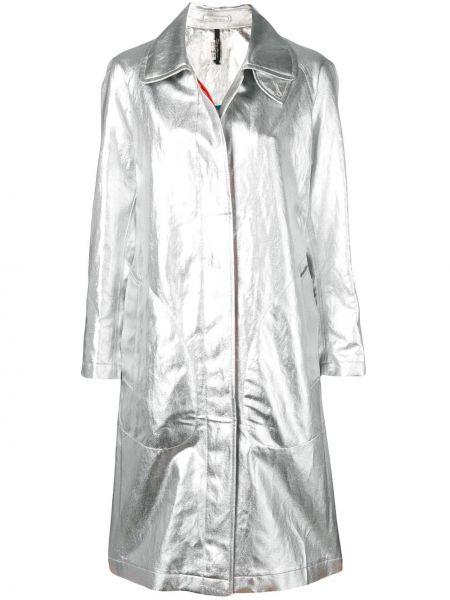 Длинное пальто с карманами на пуговицах с воротником Santoni