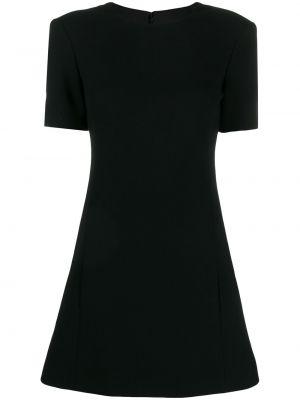 Шелковое платье мини - черное Saint Laurent