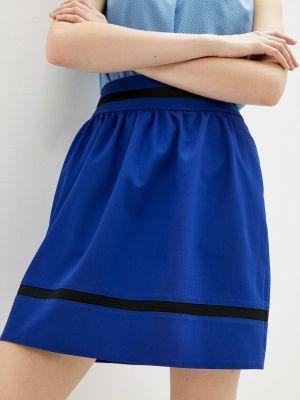Синяя юбка свободного кроя Shovsvaro