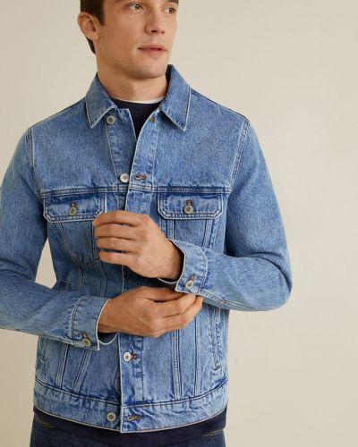 Джинсовая куртка утепленная на пуговицах Mango Man