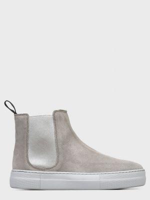 Текстильные ботинки - серые Frau