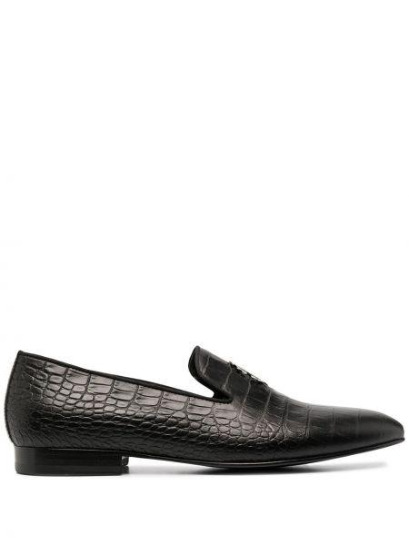Черные кожаные лоферы Roberto Cavalli