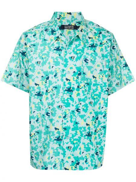 Зеленая рубашка короткая Billionaire Boys Club