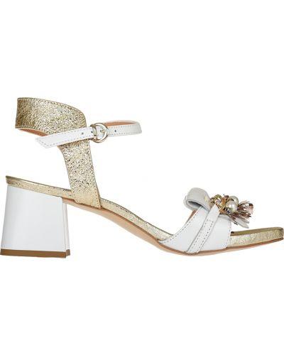 Босоножки на каблуке кожаные Loretta Pettinari