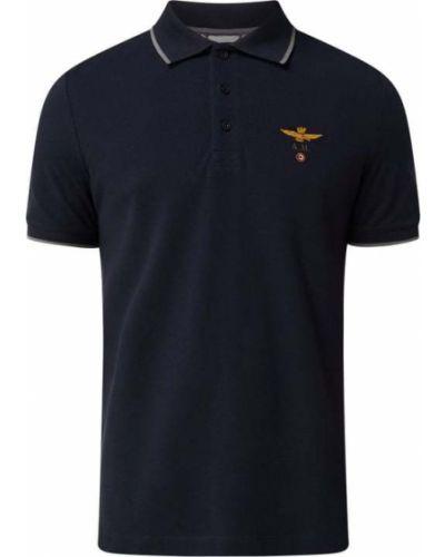 T-shirt bawełniana - czarna Aeronautica Militare