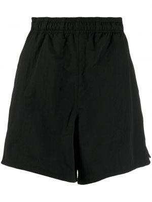 Спортивные шорты в полоску черные Adidas