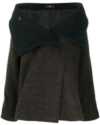 Длинное пальто с капюшоном Y's