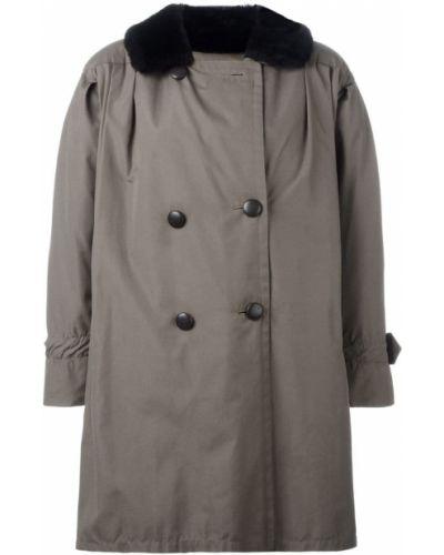 Бушлат на пуговицах - серое Yves Saint Laurent Vintage